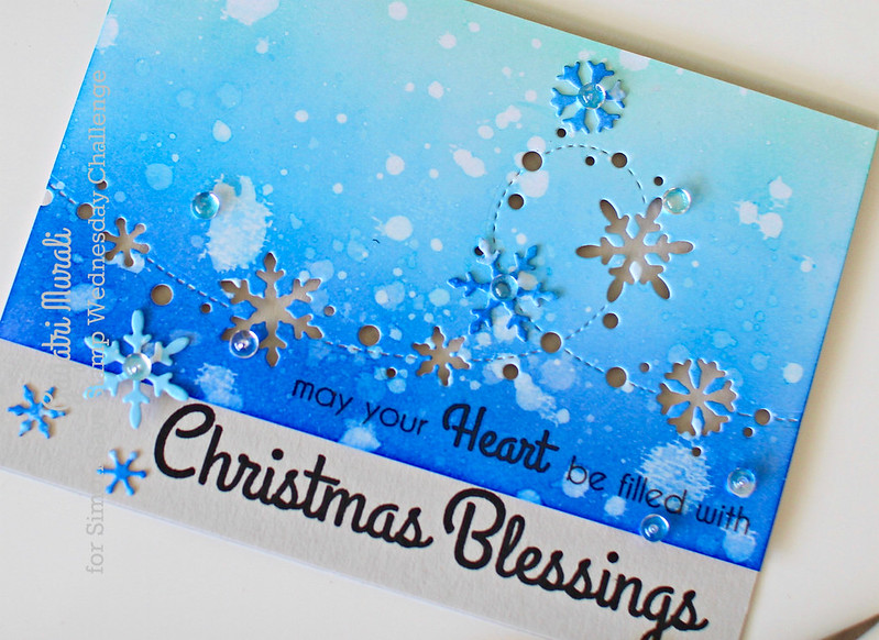 Christmas Blessings closeup flat