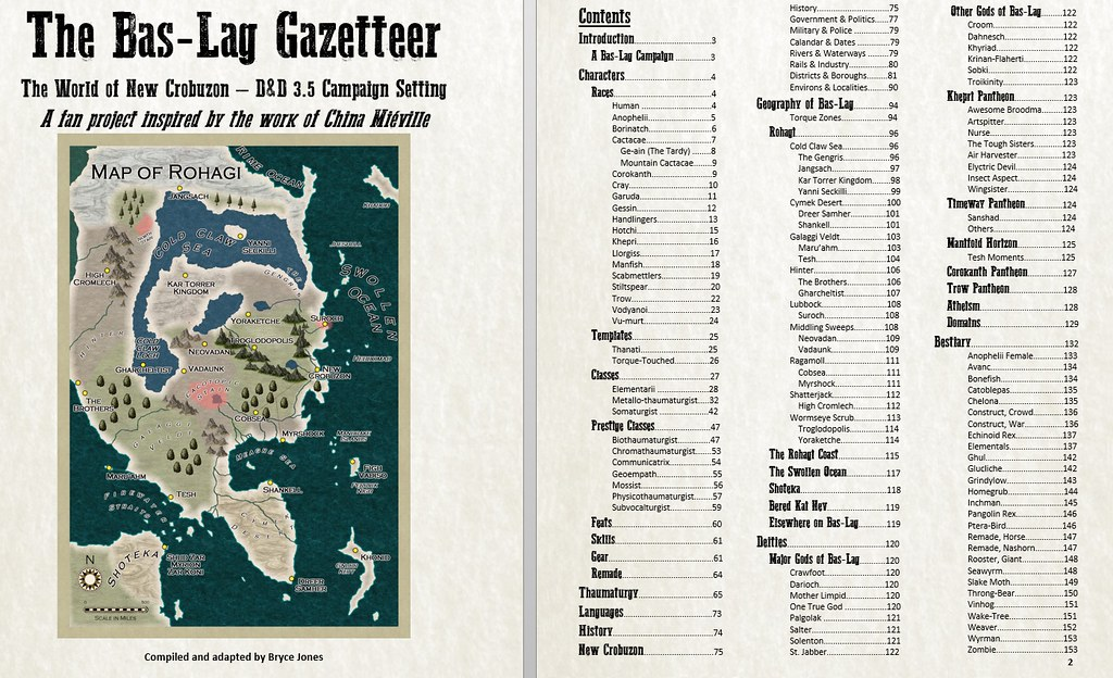 Setting 153pgs - Bas-Lag Gazetteer - China Meiville's New Crobuzon