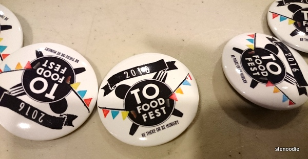 TO Food Fest 2016 pins