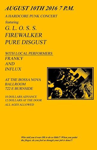 8/10/16 Gloss/Firewalker/PureDigust/Franky/Influx