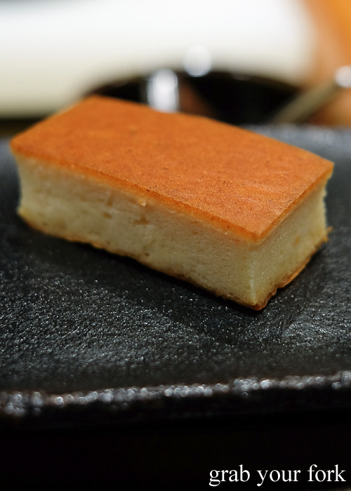 Tamago made with shrimp and mountain yam at Hana Ju-Rin in Crows Nest Sydney