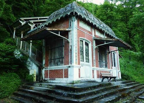 Gare de l'ancien funiculaire de la Chaumiere (1894-1969) à Bagneres de Luchon
