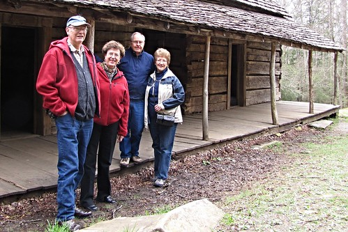 IMG_2003a_Dave_Kay_Doug_Linda_at_Bud_Ogle_Cabin_on_Roaring_Forks_Motor_Nature_Trail