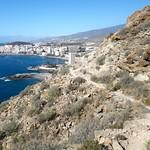 Tenerife above Playa del Callao Los Cristianos