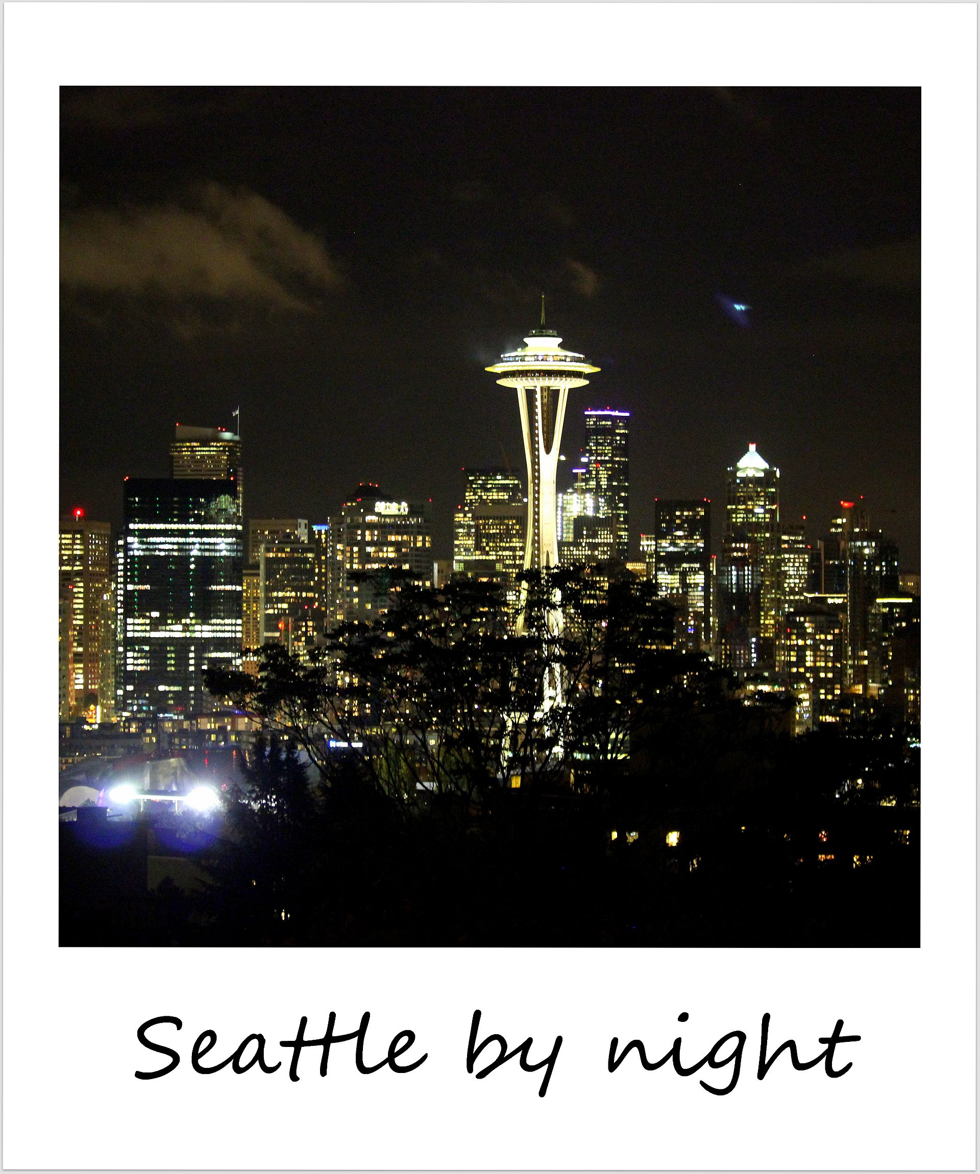polaroid of the week usa seattle by night