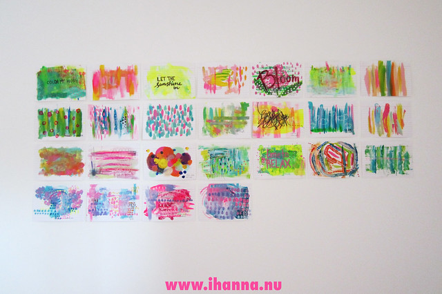 Index Card Wall still growing painted by iHanna #icad