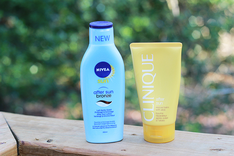 Summer Products Nivea and Clinique After Sun