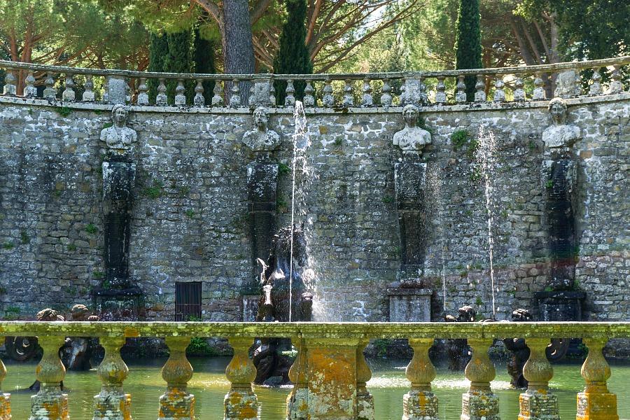 Villa Lante Fountain Inside the Park Entrance