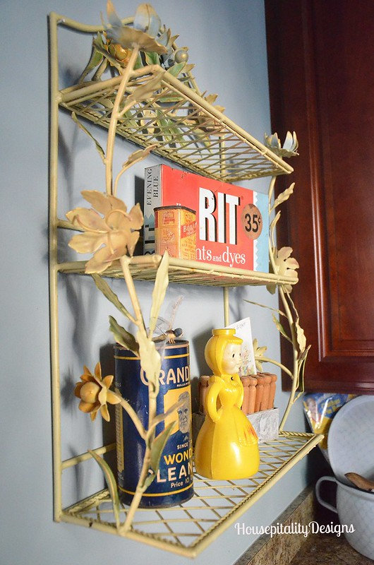 Tole Shelf - Vintage Laundry Items - Housepitality Designs