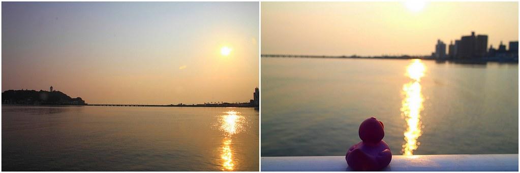 夕陽 @ 腰越漁港