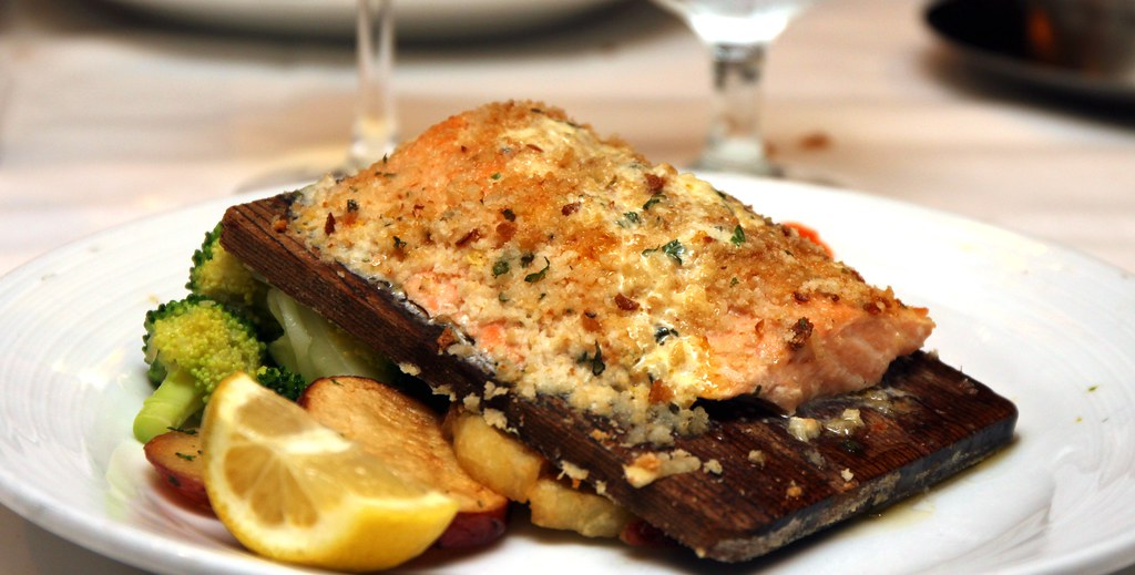 Grilled Salmon on a plank