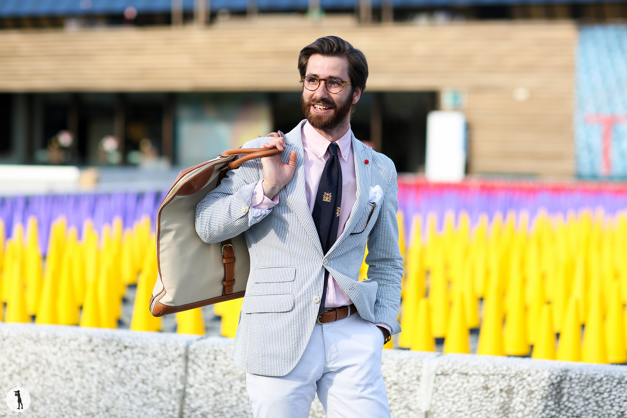 Guillaume Lancelot at Pitti Uomo 90