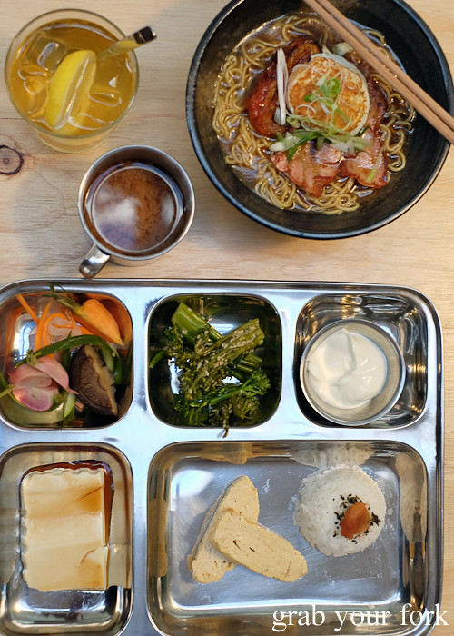 Breakfast ramen and prison bento at Rising Sun Workshop, Newtown