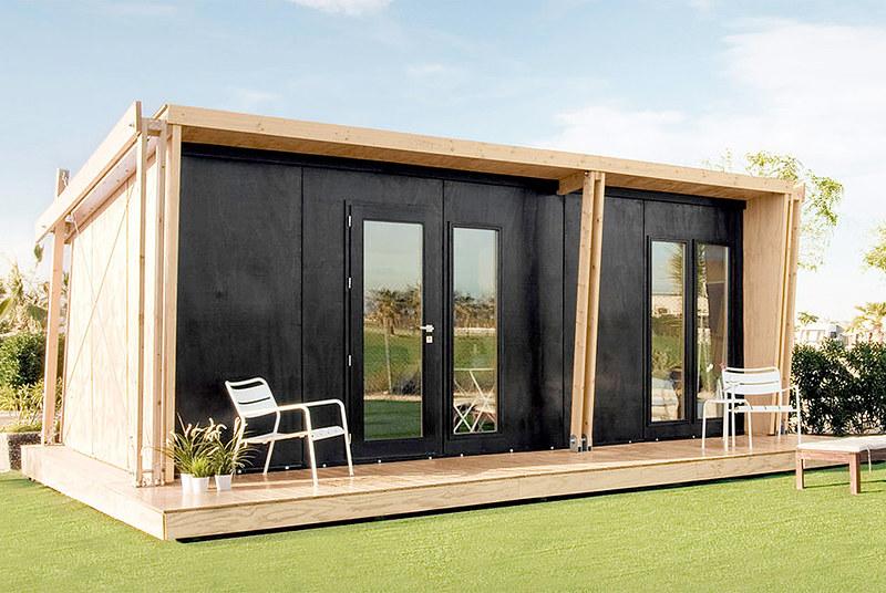 Компактный модульный дом. Проект бюро viVood