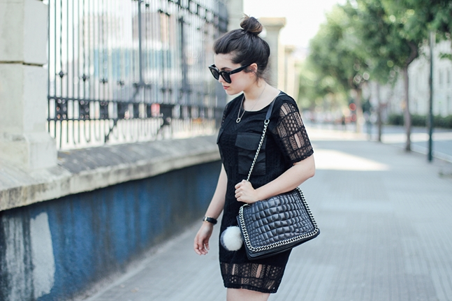 black dress with gucci loafers ties&heels streetstyle how to wear myblueberrynightsblog