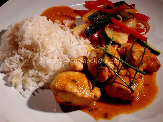 Poulet au Curry Rouge Thaï & Légumes Sautés © Ana Luthi Tous droits réservés 07