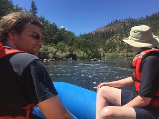 Klamath River Rafting, CA, Matthew and Paul, August 2016