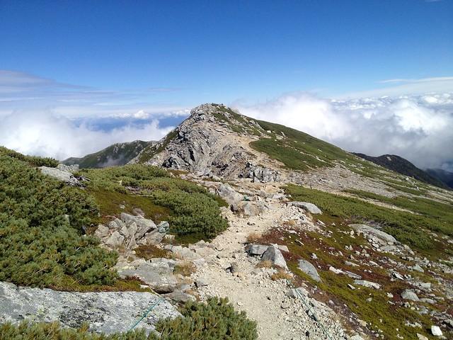 木曽駒ヶ岳 馬の背 登山道