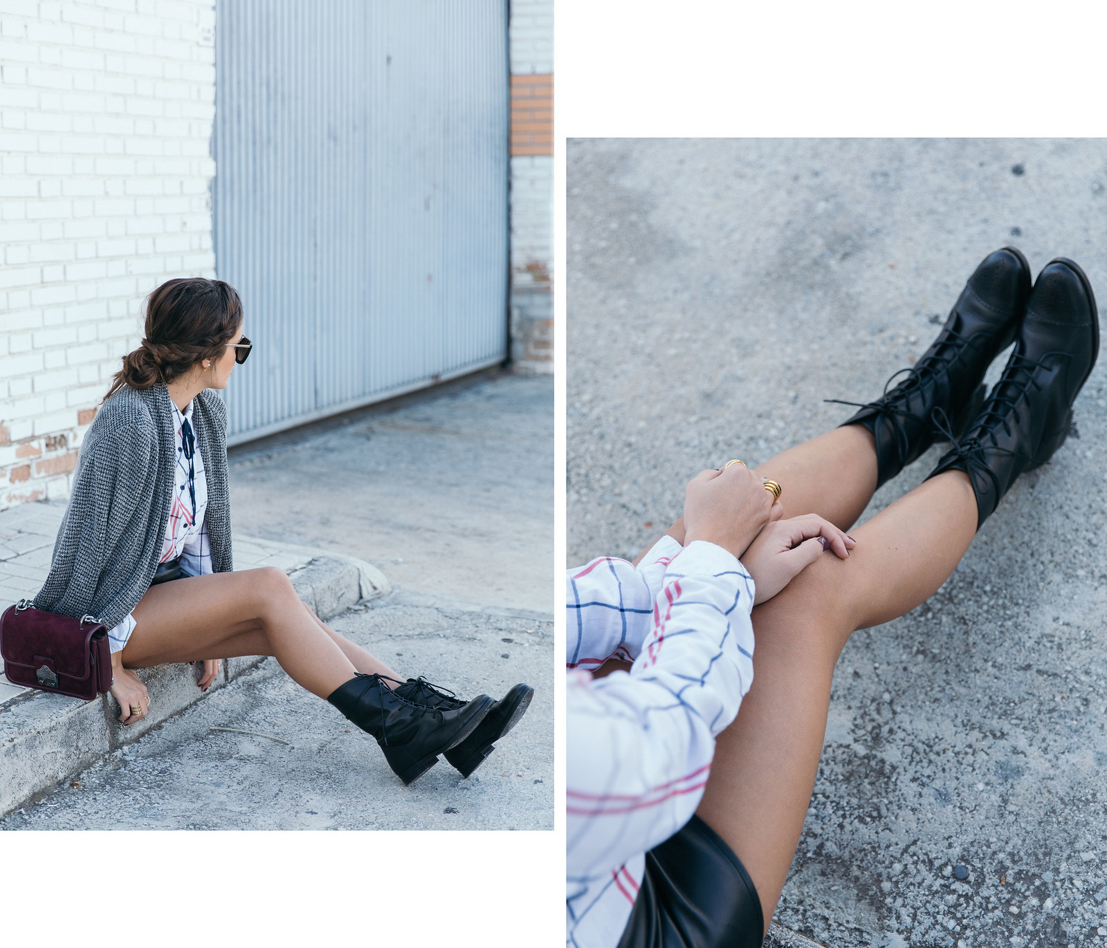Jessie Chanes Seams for a desire - Black Boots Itshoes Parfois bag faux leather skirt-8