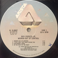 RAY PARKER JR.:WOMAN OUT OF CONTROL(LABEL SIDE-A)