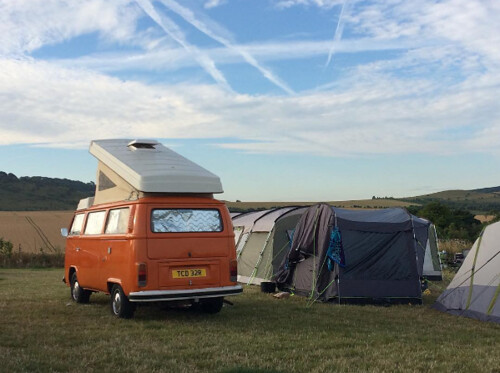 Orange bay camper