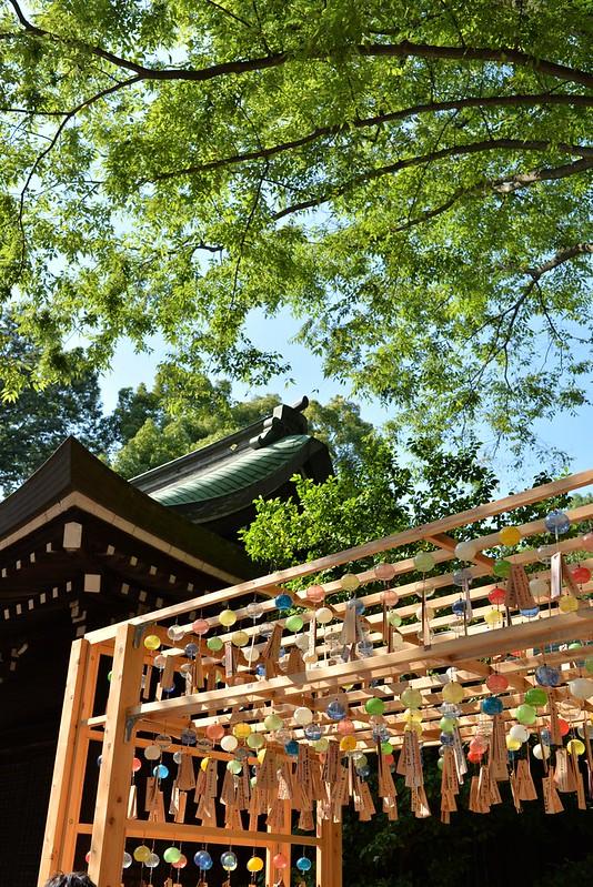 川越百万灯夏まつり、川越氷川神社縁むすび風鈴 2016年7月31日