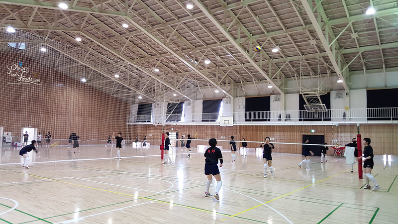 Kakunodate Senior High School volley ball practise