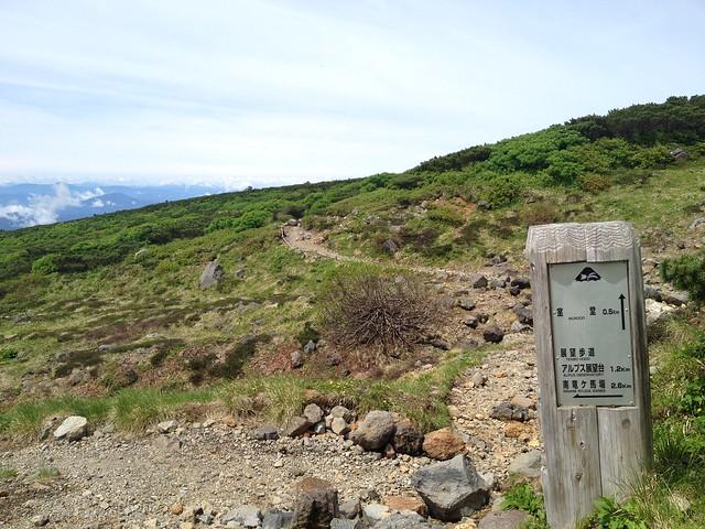 白山 平瀬道 室堂まで0.5km地点