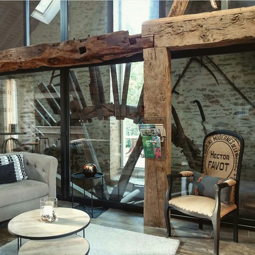 Mill wheel preserved in the dining room.