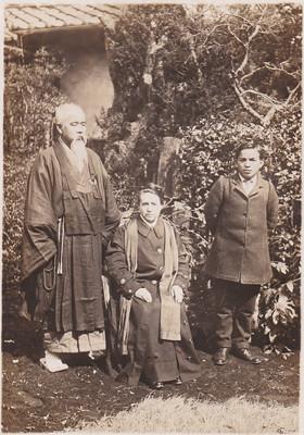 Alexandra David-Néel, Kawaguchi Ekai and Aphur Yongden in Japan in July 1917. From gis-reseau-asie.org
