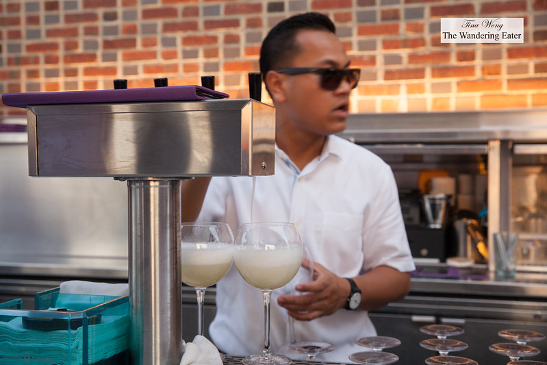 Prosecco on tap (and for the signature drink that has a boozy popscicle)
