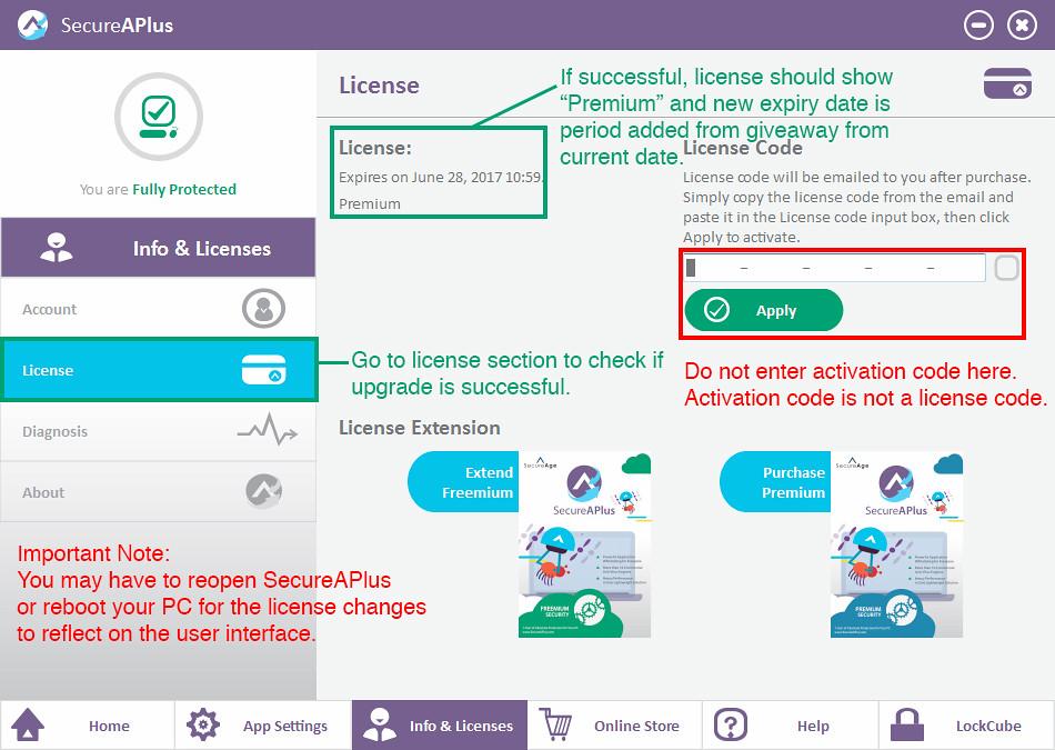 SecureAPlus Premium guide 3