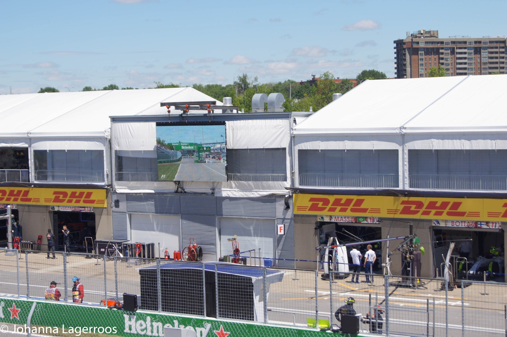Montreal f1 pits