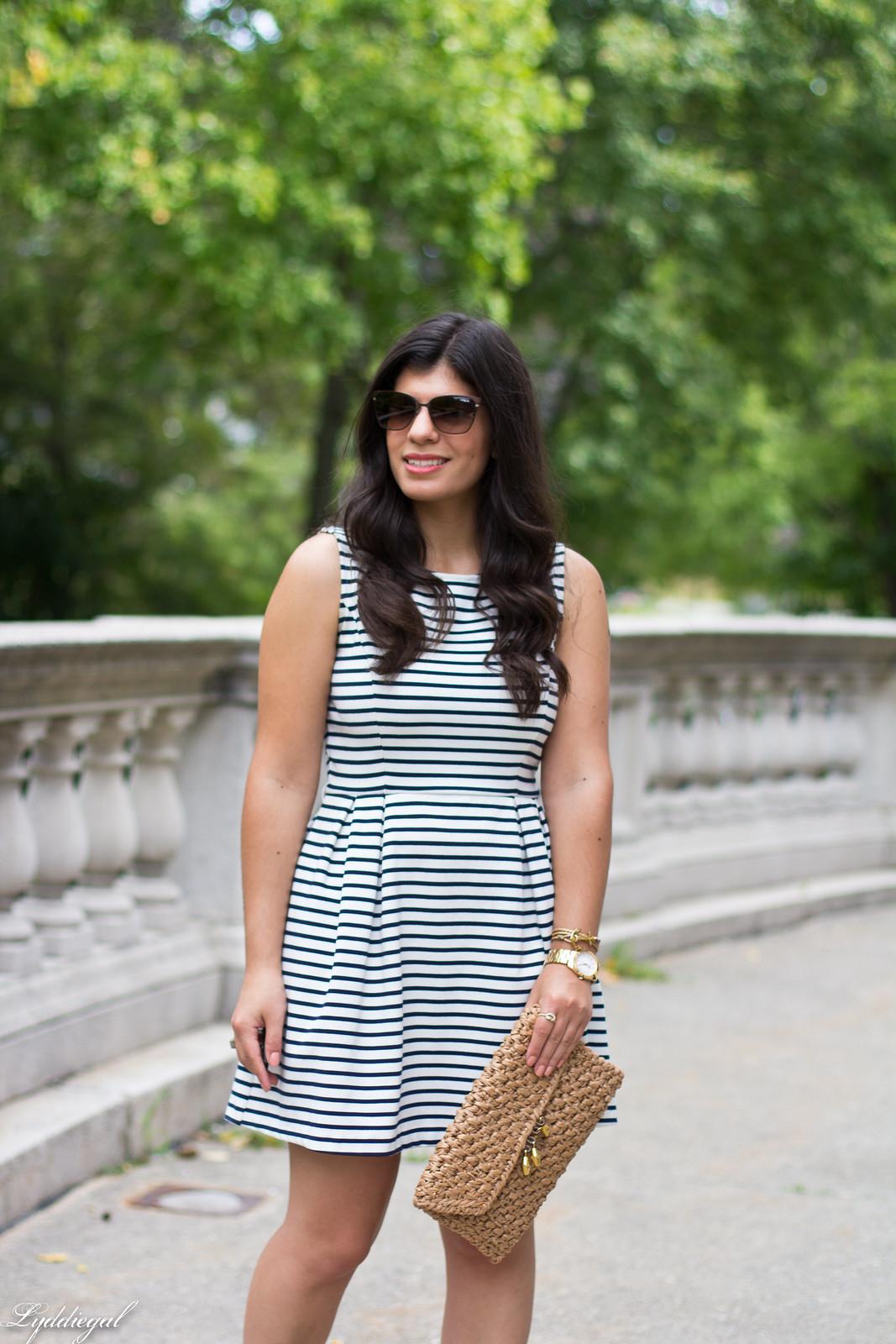 striped dress, espadrille sandals, straw clutch-12.jpg