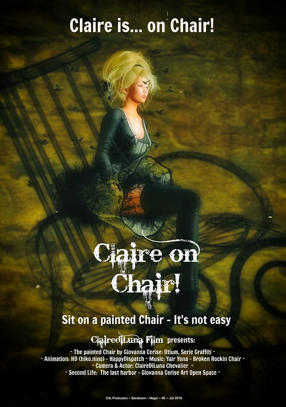 Claire on chair