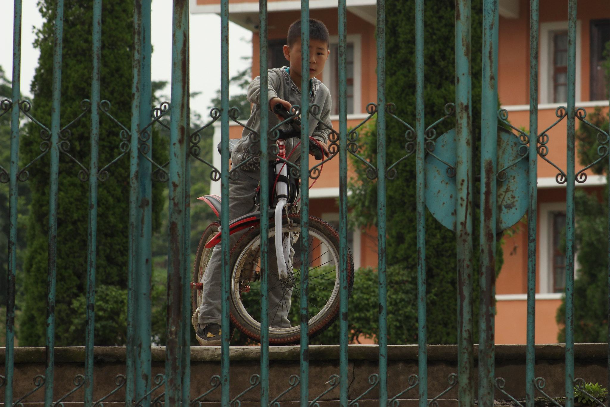 Biker Kid behind bars