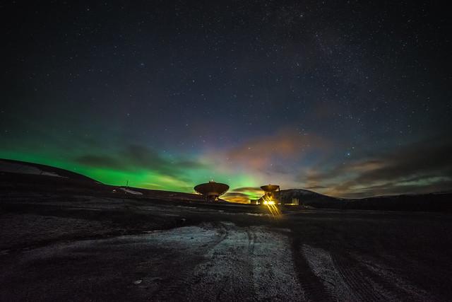 Nordlichter in der Arktis / Spitzbergen