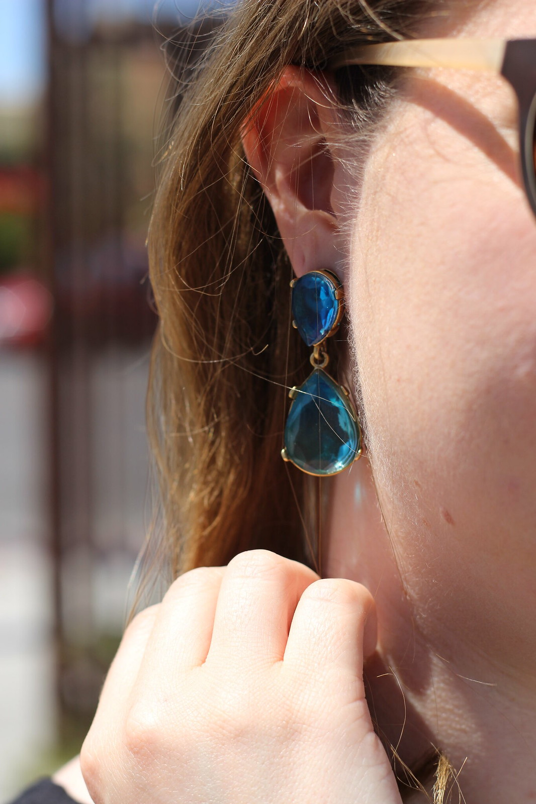 Teal Loren Hope Earrings