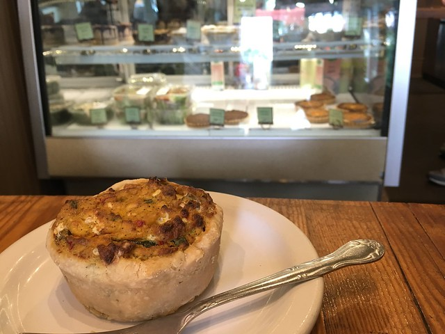 Quiche gluten-free vegan at Back to Eden Bakery Portland, Oregon