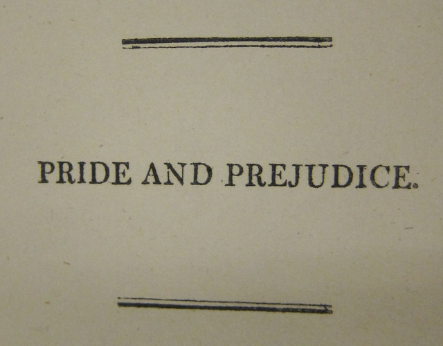 pride and prejudice by jane austen zsr library half title page from zsr s first edition of pride and prejudice