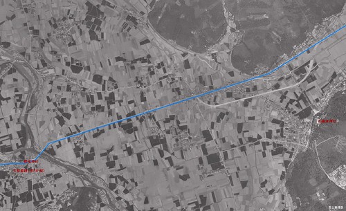 足守川から吉備津神社へ 1961年