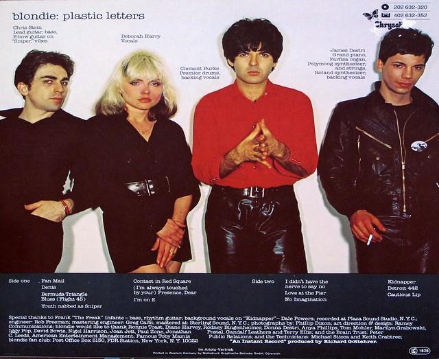 "BLONDIE PLASTIC LETTERS 12"" LP VINYL"