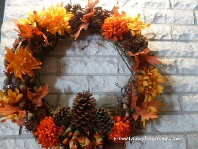 Harvest Wreath at From My Carolina Home