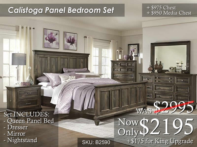 Calistoga Panel Bedroom Set (Sep2016)