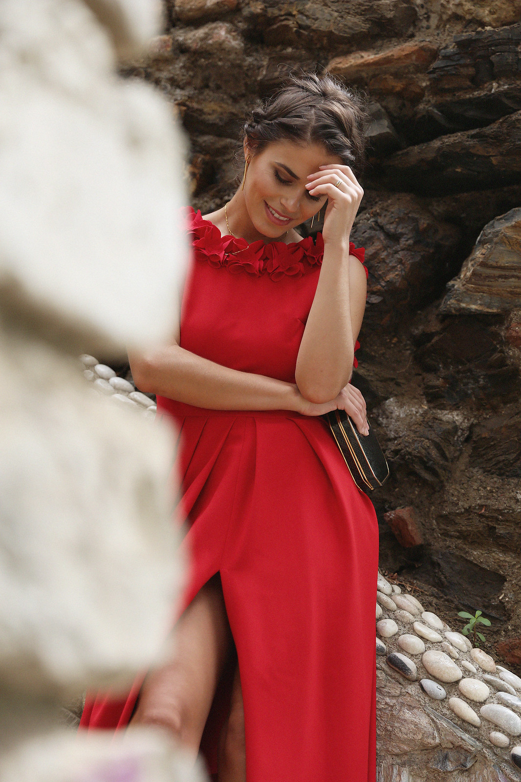 Jessie Chanes Seams for a Desire Apparentia Red Long Dress-13