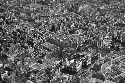 WW2 Bomb Damage Around St Pauls Cathedral London In 1946