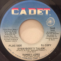 RAMSEY LEWIS:EVERYBODY'S TALKIN'(LABEL SIDE-A)