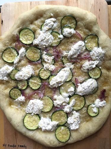 Ricotta Zucchini Pizza