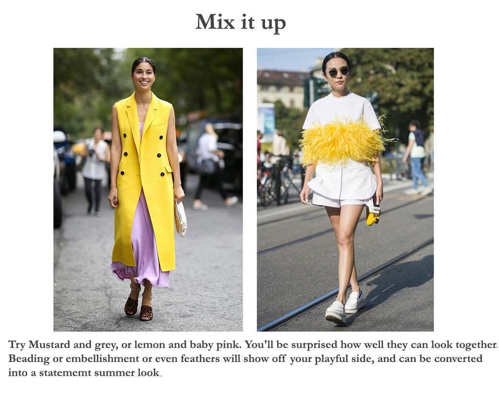 Yellow Buzz- ways to wear yellow