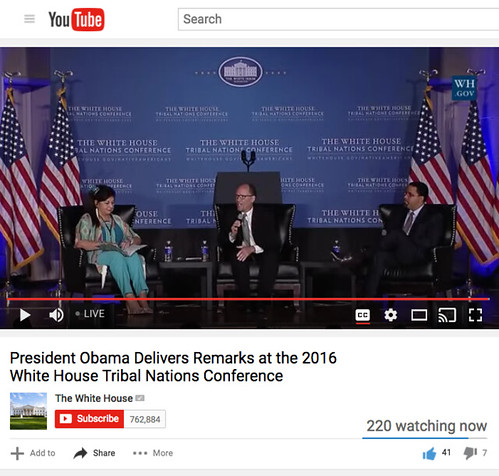 #Livestreaming Now: White House Tribal Nations Conference
